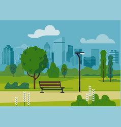 city park scene vector image