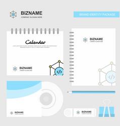 Code logo calendar template cd cover diary and vector