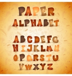 Colorful paper ABC letters Autumn alphabet vector