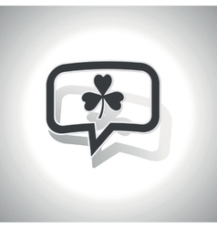 Curved clover message icon vector image