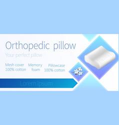 Cushion with cotton pillowcase contour memory foam vector