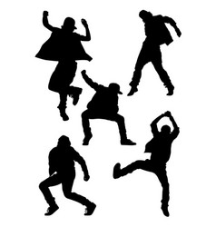 dancer cool style silhouette vector image
