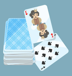 Deck of cards with two items vector
