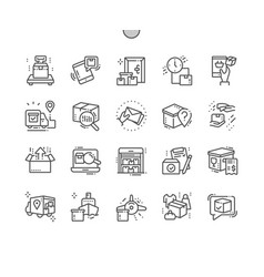 delivery well-crafted pixel perfect thin vector image