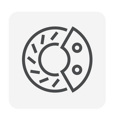 disk brake icon vector image