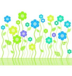 Elegant bright flower border vector