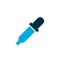 Eyedropper icon colored symbol premium quality vector