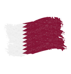 flag of qatar grunge abstract brush stroke vector image