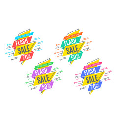 Flash sale promotion banner flat design price vector