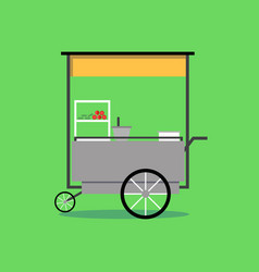 flat thai street food vending cart vector image
