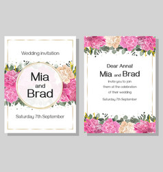 floral template for a wedding invitation a border vector image