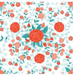 flowers pattern cartoon seamless decoration vector image