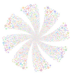 Gauge fireworks swirl flower vector