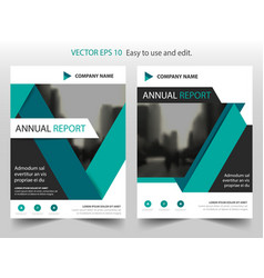 green black label annual report brochure flyer vector image