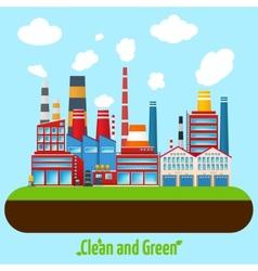 Green Industry Poster vector