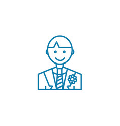 groom linear icon concept groom line sign vector image