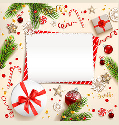 Holiday winter frame vector