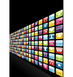 Iphone app icons set background vector image