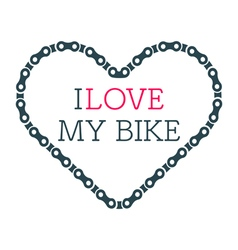 Love bike card vector image