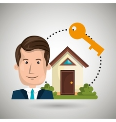 Man house security protection vector