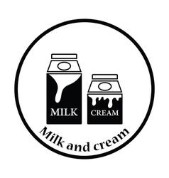 Milk and cream container icon vector image