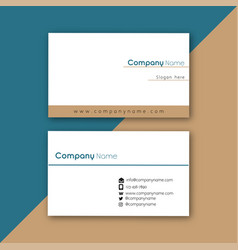 minimal white business card image vector image