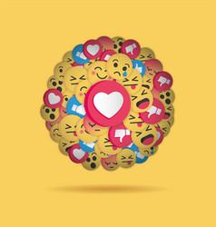 modern emoji design on yellow background vector image