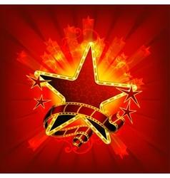 Movie stars red vector