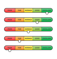 Pain scale feedback rating customer experience vector