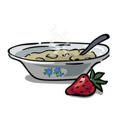 Plate with porridge vector