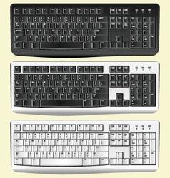 Realistic keyboard vector