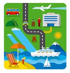 resort concept flat vector image