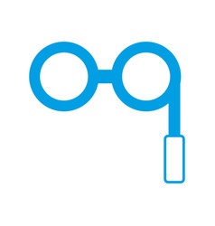 Retro glasses icon vector
