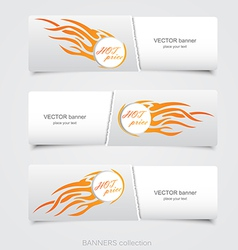 riped abstract banner 2 vector image