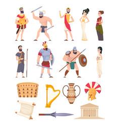 Rome elements cultural ancient traditional vector
