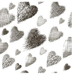 seamless many hearts vector image