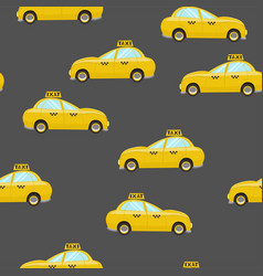 seamless pattern with taxi for fabrics and vector image