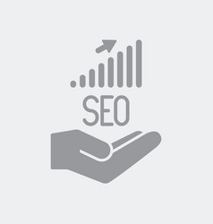 services for increase seo results vector image