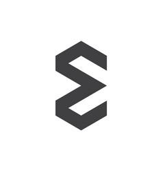 sigma simple geometric logo vector image