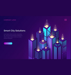 smart city internet things network technology vector image
