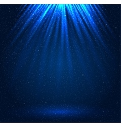 Stars sky night Blue rays Glare vector