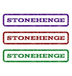 Stonehenge watermark stamp vector