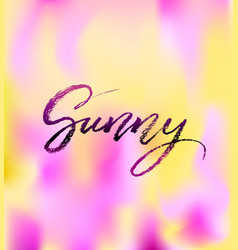 Sunny brush lettering vocation cards banners vector