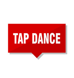 tap dance red tag vector image