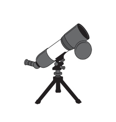 Telescope sign vector image