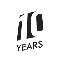 ten years emblem template anniversary vector image