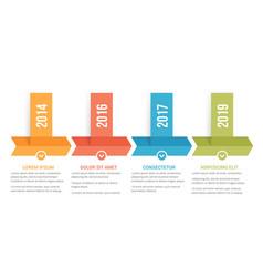 timeline infographics vector image