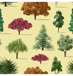 Trees sketch set pattern vector