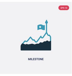 Two color milestone icon from other concept vector