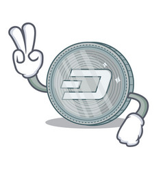 two finger dash coin character cartoon vector image